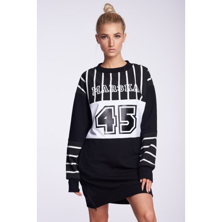 BLACK SWEATSHIRT OLDSCHOOL STRIPS