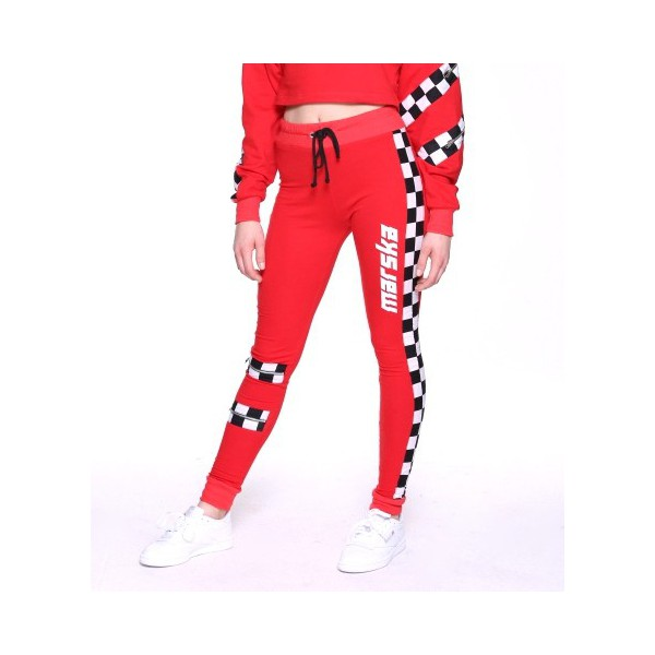 RED PANTS CHECKERBOARD