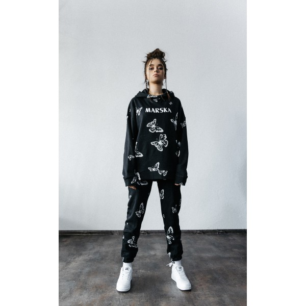X-RAY BUTTERFLY SWEATPANTS BLACK
