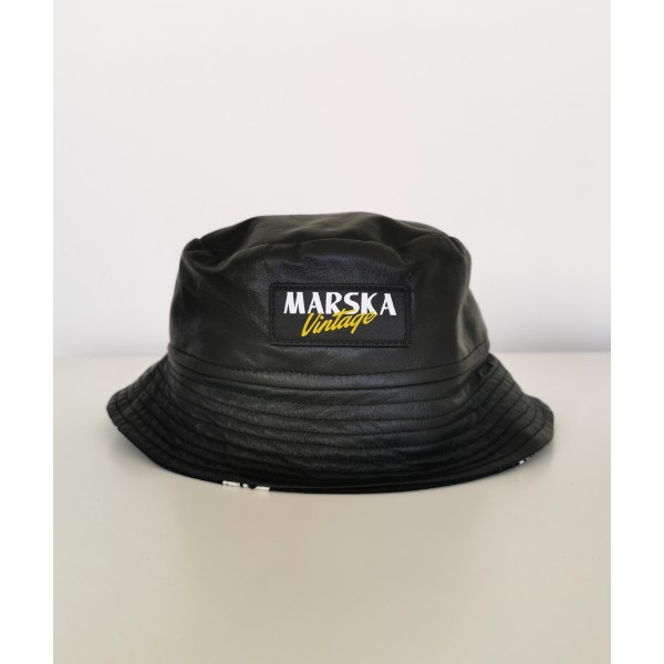LEATHER VINTAGE BUCKET HAT